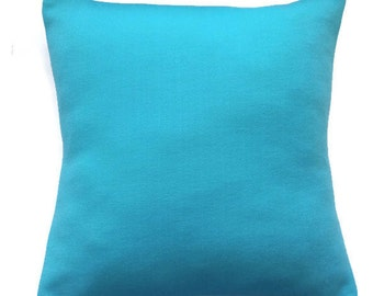 Turquoise pillow cover / Handmade pillow cover / aqua cushion