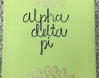 Alpha Delta Pi Mandala Canvas (Customizable) // Sorority Canvas // Gifts for Little // Sorority Gifts // ADPi // Greek Life