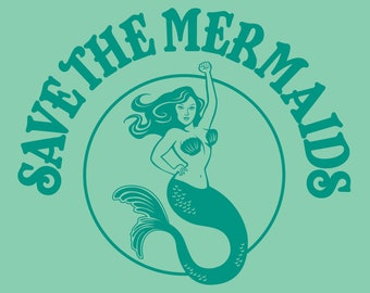 """11"""" x 14"""" Save the Mermaids! Art Print- Free Shipping in US for a limited time!"""