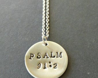 Bible jewelry etsy hand stamped stainless steel necklace bible verse jewelry bible jewellery christian necklace negle Images