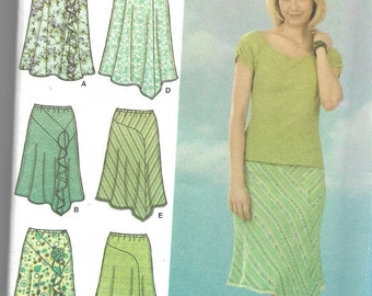 Simplicity | 4593 | Misses' Bias Skirts with Length Variations | Uncut and Factory Folded