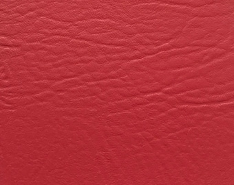 """Burgundy Vinyl Fabric Faux Leather Pleather Upholstery 54"""" Wide By the Yard"""