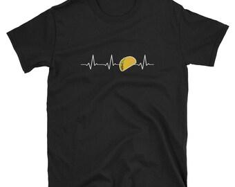 Heartbeat Tacos - Cinco De Mayo Mexican Fiesta - No Siesta - Mexico Party  T-Shirt