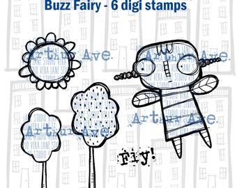 Buzz Fairy - 6 digi stamp bundle