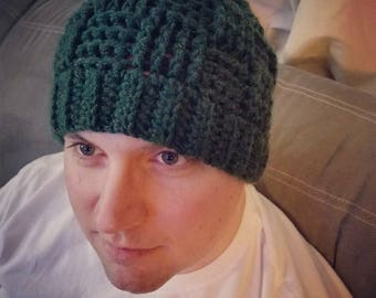 Basketweave Crochet Beanie