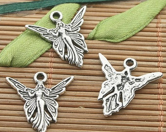 SALE**Small Tibetan Silver Fairy Charm