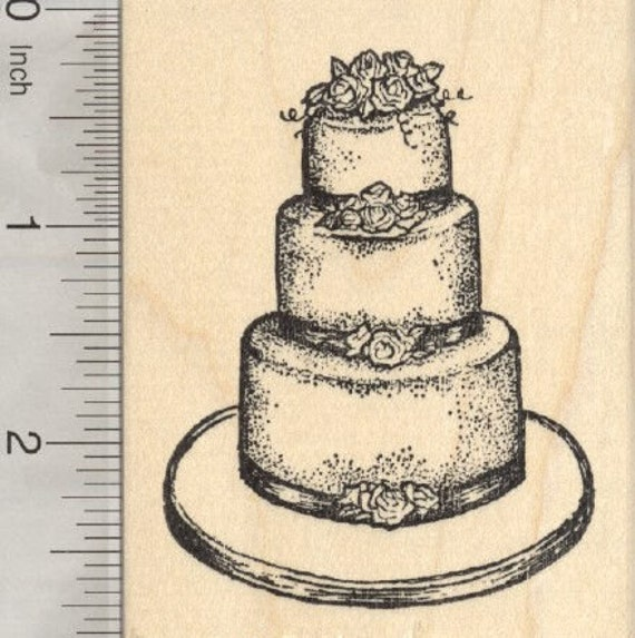 wedding cake stamp wedding cake rubber stamp k28301 wood mounted from 25599
