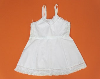 vintage little girl's Her Majesty full slip size 4 white cotton antique slip vintage baby slip girls cotton slip white kids slip