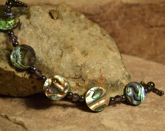 Abalone Bracelet Handmade Shell Jewelry Gifts for her from The Hidden Meadow