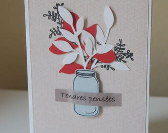 """Bouquet """"tender thoughts"""" card"""