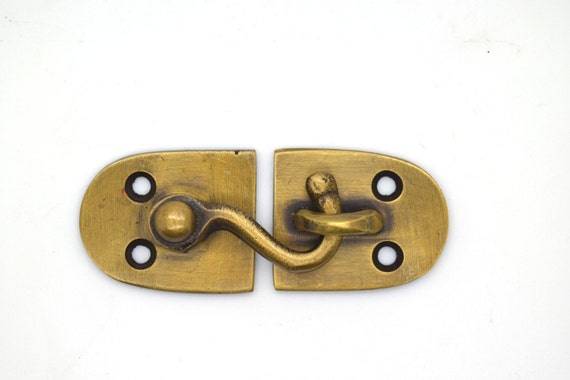 Cupboard Catch, Lock Bolt Brass, Cabinet Hardware. Furniture Catch Lock.  Door Pantry Lock,Yacht Boat Brass. Brass Solid Lock From Thefoundryman On  Etsy ...