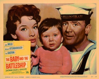 The Baby And The Battleship - 1957 - Original US lobby card  # 3