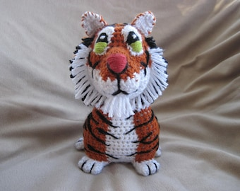 Tiger PDF Crochet Pattern - Digital Download - ENGLISH ONLY