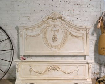 RESERVE LISTING Do Not Purchase  Day Bed Painted Cottage Shabby Romantic Princess Rose Florall Twin / Double /Full Bed BD800