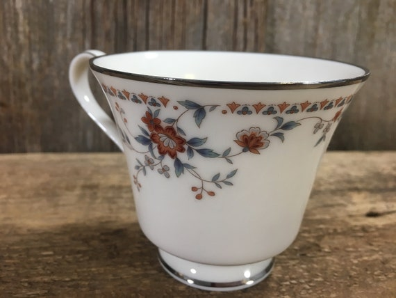 Noritake Adagio Fine China replacement cup, need a replacement for your  Noritake Ivory China, platinum edge rimmed cup, retired in 1994