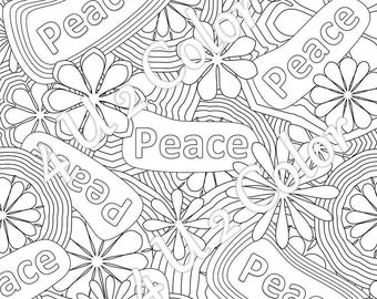 flower power coloring pages - photo#22