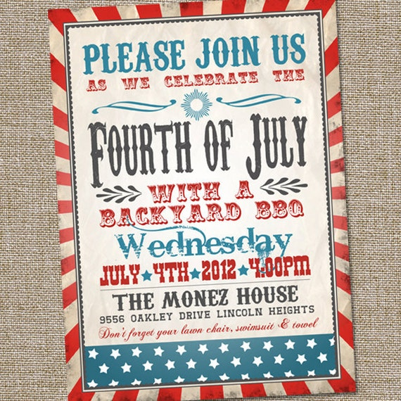 fourth of july invitation vintage fourth of july invitation
