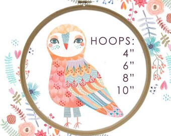 "Embroidery Hoop - craft supply, hoop, cross stitch, 4"", 6"", 8"", crafts, unique, stitching, handmade, gift, needle work, embroider"