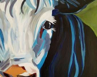 Blue Belle  Acrylic on Stretched Canvas