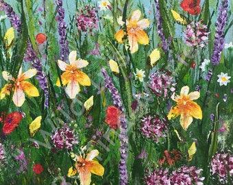 Wild Iris 1 - Stretched Canvas