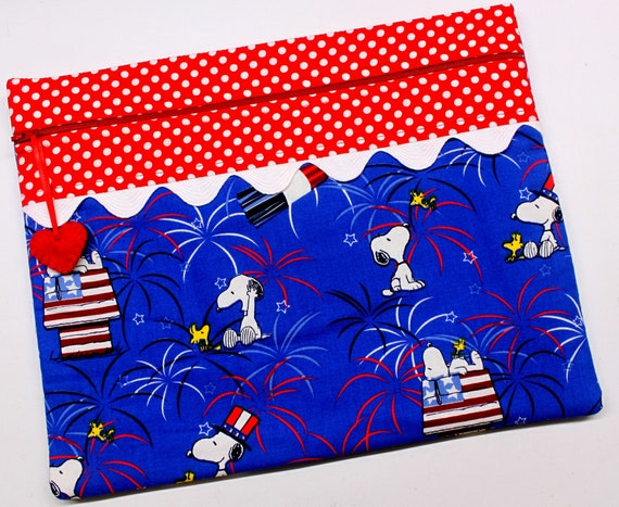 Patriotic Snoopy Cross Stitch Project Bag