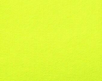Felt 1.5 mm neon yellow A4 size sheet