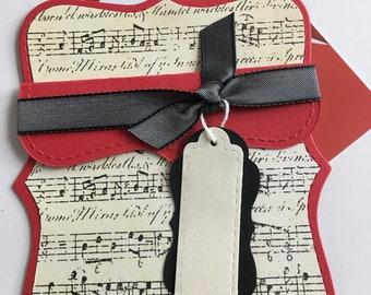 Musical Note Gift Card holder,Money Gift,Birthday Gift Card