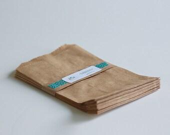Kraft Paper Bags Lot of 25 5x7 1/2