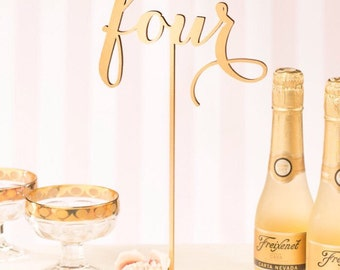 1-10 Silver - Gold Wedding table numbers