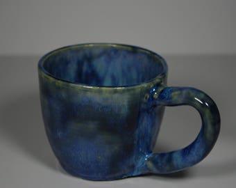Blue Medium Handmade Ceramic Mug