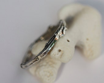 Sterling Silver Natural Twig Ring
