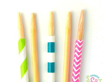 Wooden Candy Apple Sticks, Marshmallow Pops, Krispie Treats - Qty 25