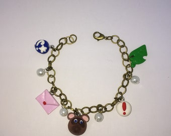 animal crossing charms bracelet geek charms amiibo animal crossing new leaf, animal crossing new kawaii cute geek pine pine love
