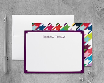 Personalized Flat Note Cards Set | Personalized Stationery Set | Personalized Stationary Set | Personalized Notecard Set | PSFLN_0041