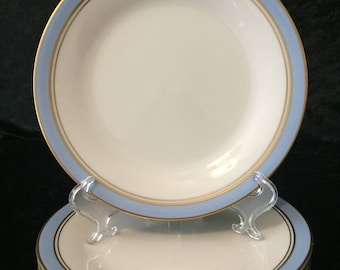 Set of Five (5) Bread and Butter Plates by Noritake in Ivory & Azure 7279