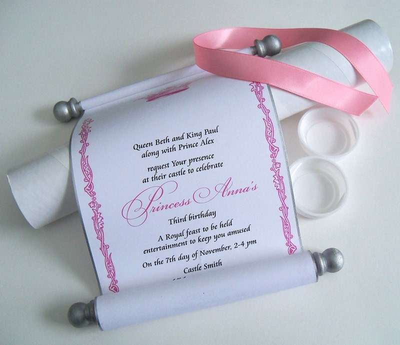 Cinderella princess invitation pink and silver scroll zoom filmwisefo Images