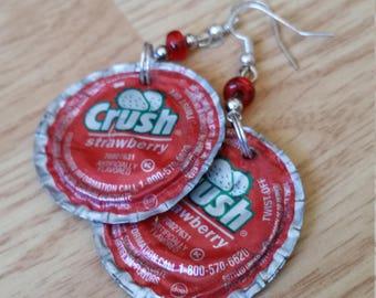 Crush Soda Bottle Cap Earrings