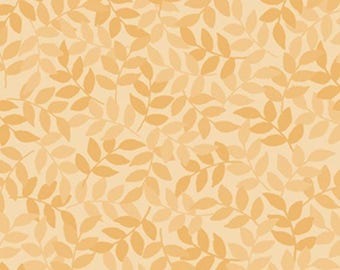 Harmony Leaf Cornsilk Blender from Quilting Treasures by the yard