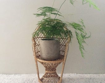 Vintage Mini Rattan Chair