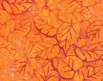 Orange Batik Fabric - Catalina Batik for Moda Fabrics - Sunrise 4329 11 - 1/2 yard