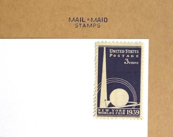 New York World's Fair || Set of 10 unused vintage postage stamps