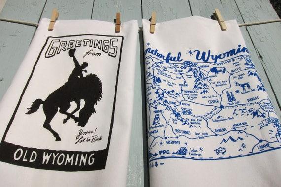 Wyoming Souvenir Tea Towel Gift Set