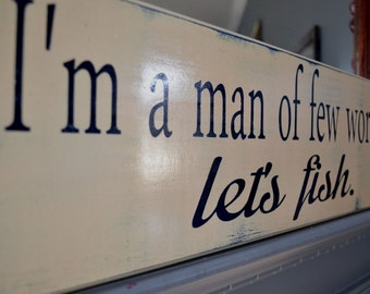 Fishing Sign, Custom Fishing Sign, Man cave, Fathers Day, Custom wood sign, home decor