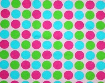 Spring Rainbow Dots Knit Fabric 1 yard