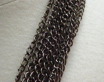 Burnished Bronze with a Hint of Pink Plated Brass Curb Chain 5mm by 4mm 3 feet (91 cm)