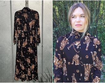 70's Cheetah Maxi Dress