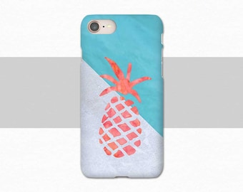 Pineapple iPhone 8 Phone Case, iPhone X Case, Summer iPhone Case, Blue iPhone 8 Plus, iPhone 7 Case, iPhone 6S, Case for iPhone SE, 6S Plus