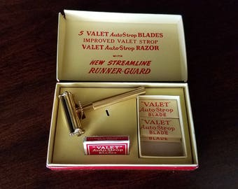 AutoStrop Safety Razor Co. Valet Single Blade Razor in Box with Extra Blades