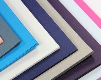25 - A7 (5 1/8 x 7) Matte Card Stock  - DIY Invitation Card Stock - Flat Cards