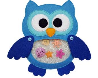 I Spy Bag OWL , Eye Spy Bag , Busy Bag , Sensory Toy , Quiet Toy , Finding Toy , Toy Bag , Find It Bag, Sensory Bag , Busy Bag , Quiet Toy
